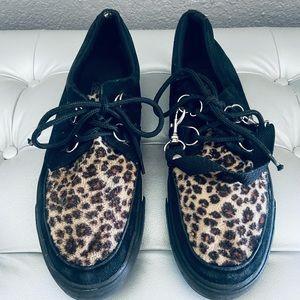 T.U.K. Leopard Sneakers